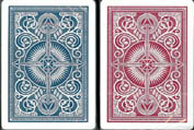 kem blue red plastic playing cards