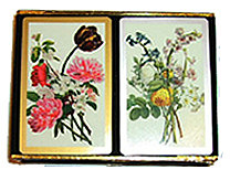 flowers bridge game playing cards