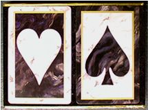Marble Playing Cards For Bridge Games